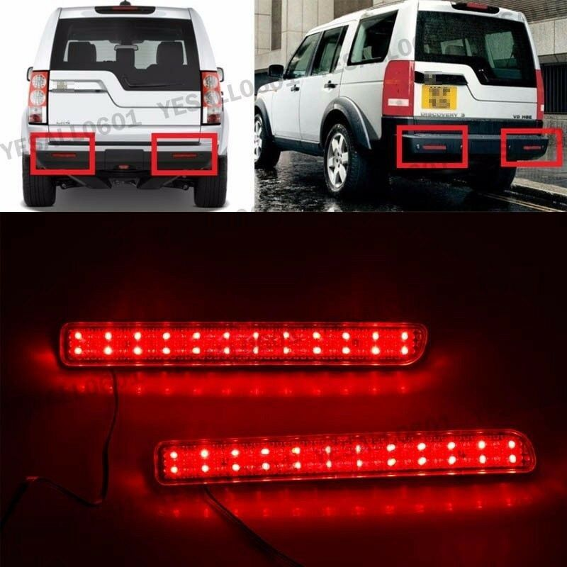 2x Led Lens Rear Bumper Reflector Brake Light For Land
