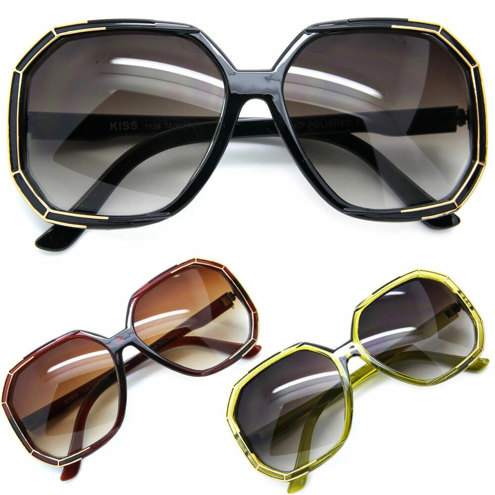 Fashion Oversized Large Frame Women Sunglasses Vintage ...