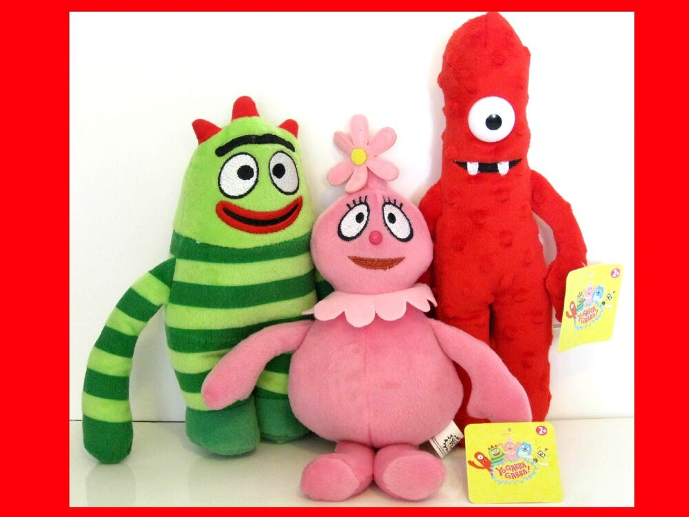 BRAND NEW YO GABBA GABBA CARTOON PLUSH DOLL TOY SET MUNO ...