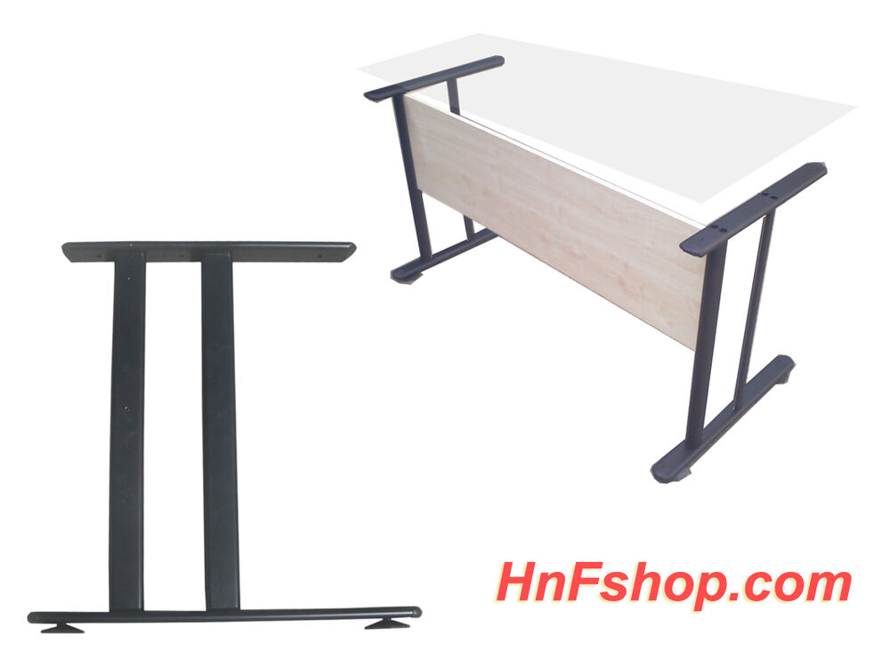 2pc Set H Style Black Metal Table Legs For Home Office