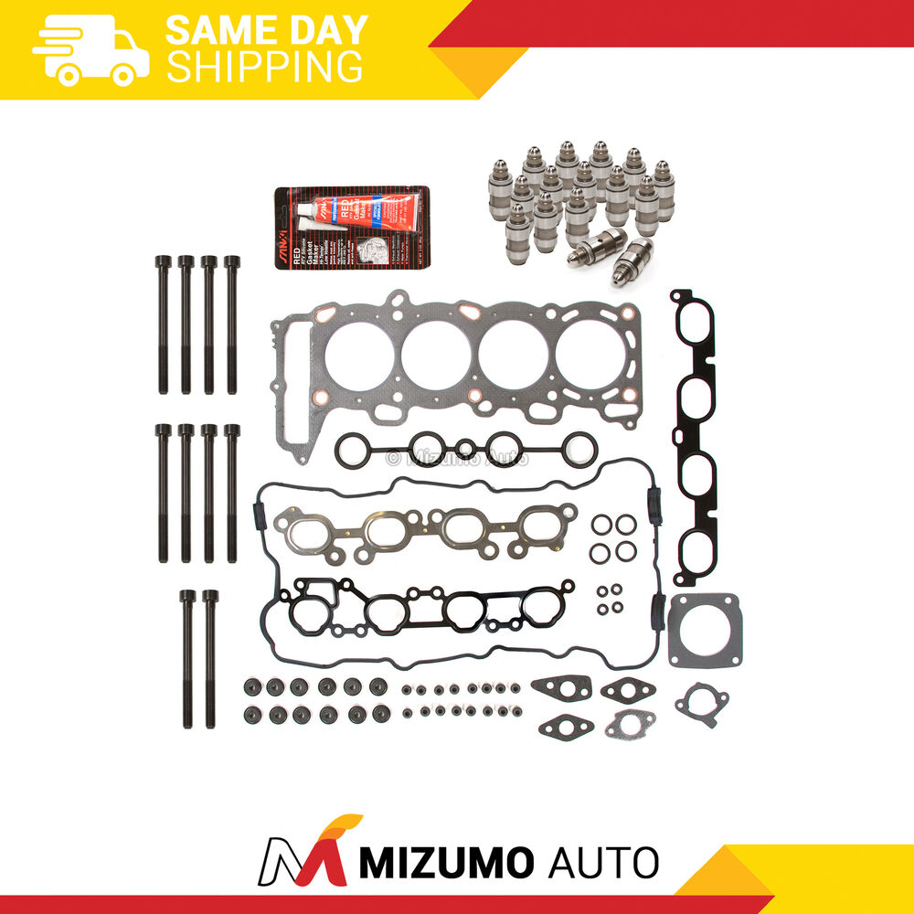 Head Gasket Set Bolts Lifters Fit 00-02 Nissan Sentra