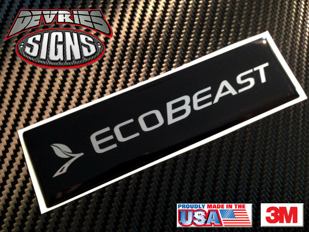 F 150 Weathertech Mats >> Domed Ford EcoBeast F-150 EcoBoost emblem overlays for Weathertech floor mats!! | eBay