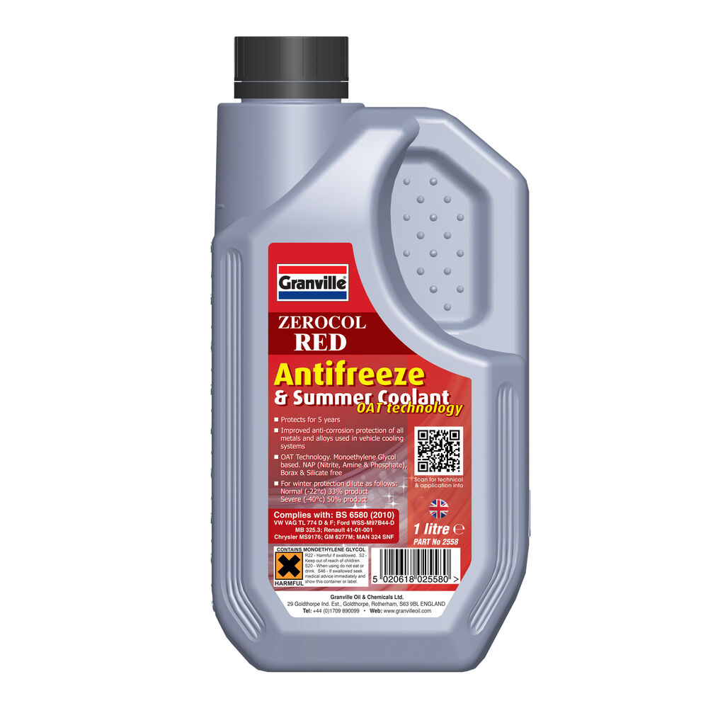 Granville RED Car Antifreeze Summer Coolant Concentrate