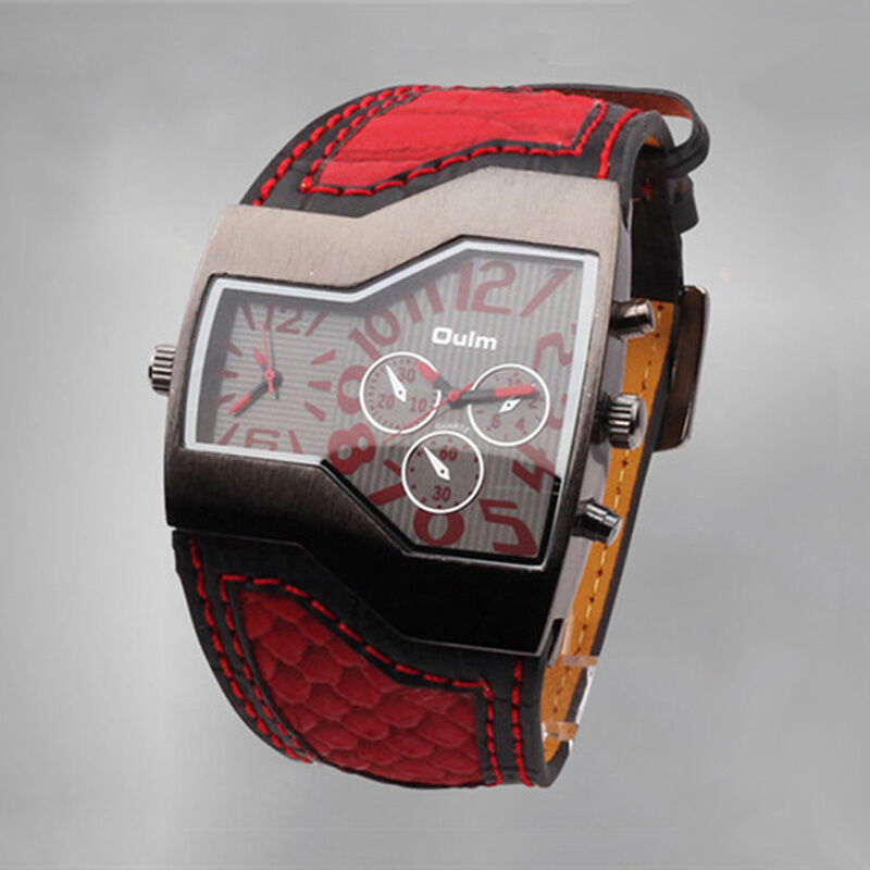 Cool Car Gifts For Guys: Military Army Wristwatch Steampunk Leather Watches