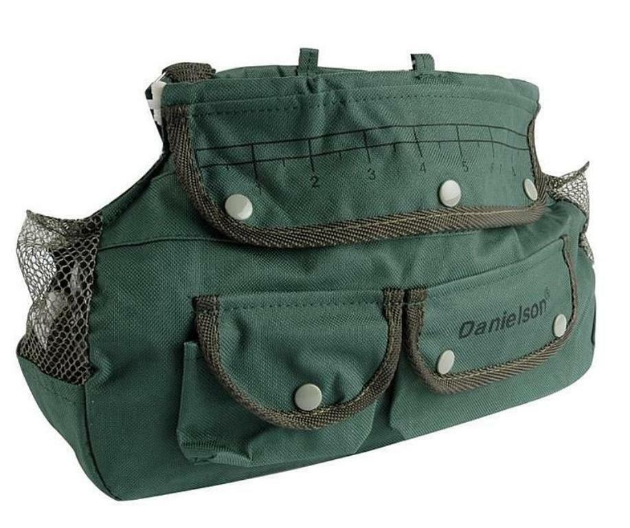 danielson green canvas fishing creel tackle bag adjustable