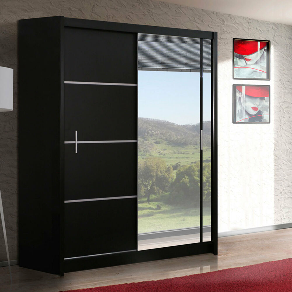kleiderschrank schwebet renschrank luiza 150 mit spiegel. Black Bedroom Furniture Sets. Home Design Ideas