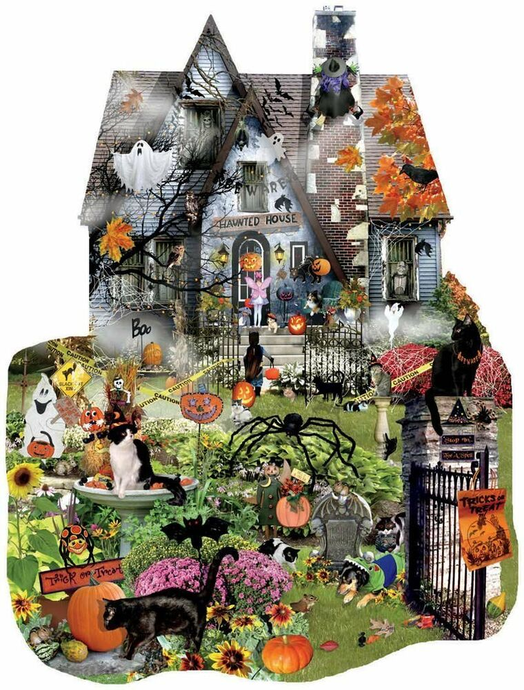1000 Images About Tarot Art: Spooky House 1000-Piece Jigsaw Puzzle By Sunsout Halloween