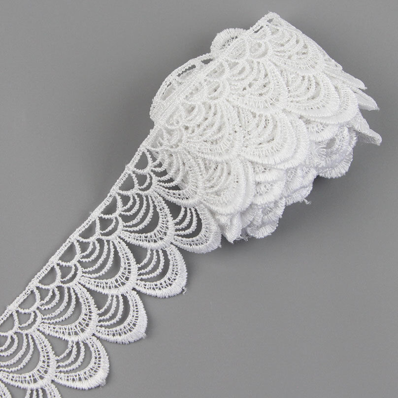 3 yards lace trim ribbon for wedding bridal dress for Craft ribbons and trims