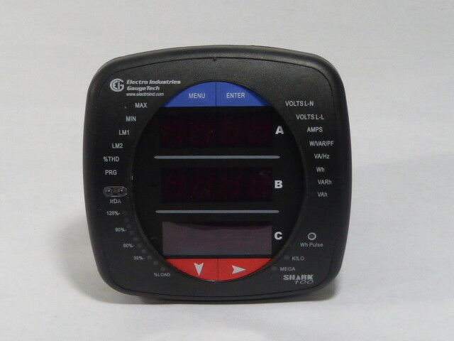 Shark 100 Meter : Electro industries shark  v d p power meter