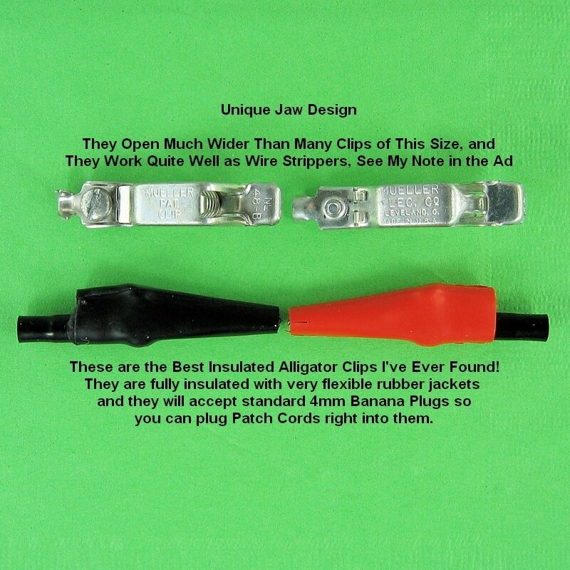 Best Insulated Alligator Clips Found, Unique Wide Jaw Clips Open ...