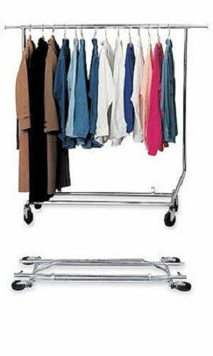 Single Bar Collapsible Commercial Clothing Grade Rack