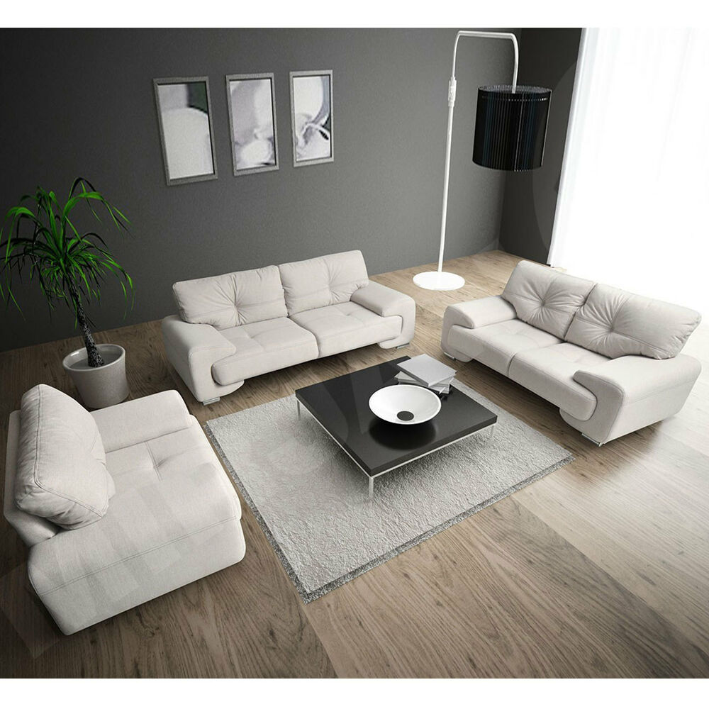 sofagarnitur polstergarnitur megan 3 2 1 sofa sofas couchgarnitur farbauswahl ebay. Black Bedroom Furniture Sets. Home Design Ideas