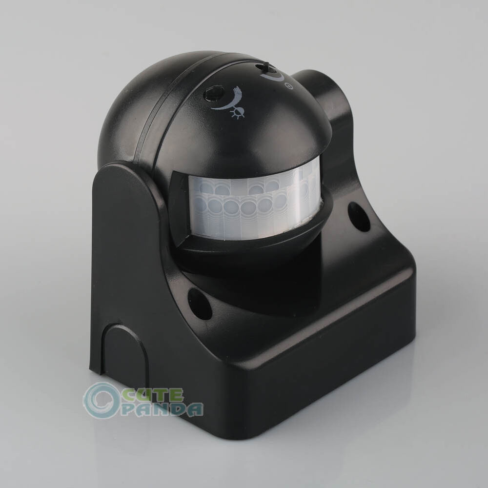 Outdoor 180 Degree Pir Motion Movement Security Sensor Detector Switch 12m Black Ebay