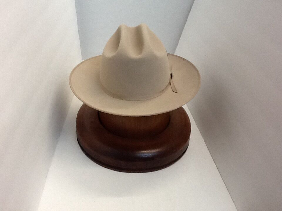 4fa1d8dd332be Details about Stetson Cowboy Hat 6X Beaver Felt Silverbelly Open Road With  Hat Brush Cleaner