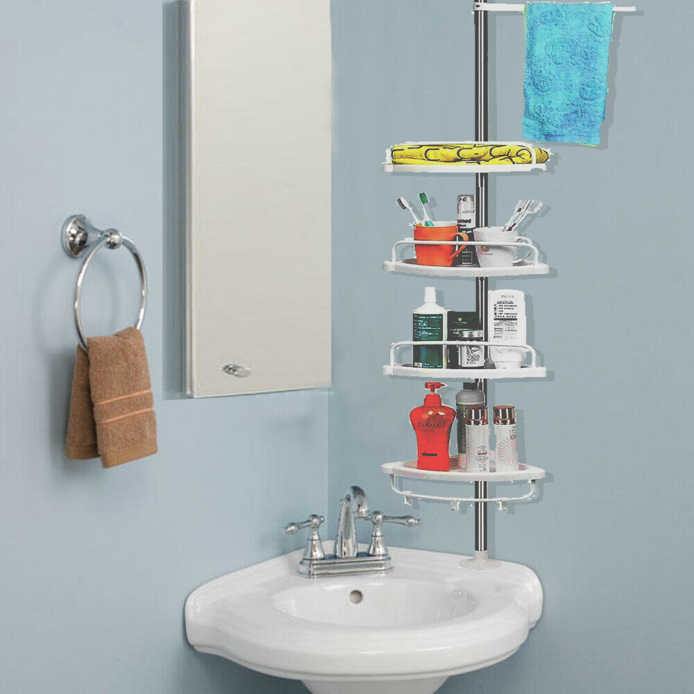 4tier Bathroom Corner Hanging Upright Shower Caddy Shelf