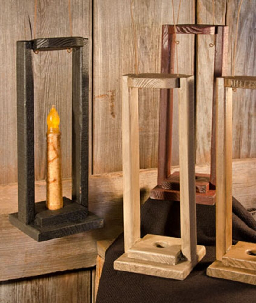 Hanging weathered wooden rustic lantern with distress for Rustic house candles