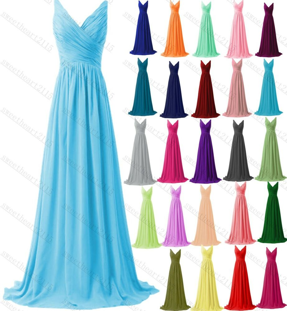 New formal long evening ball gown party prom bridesmaid for Ebay used wedding dresses