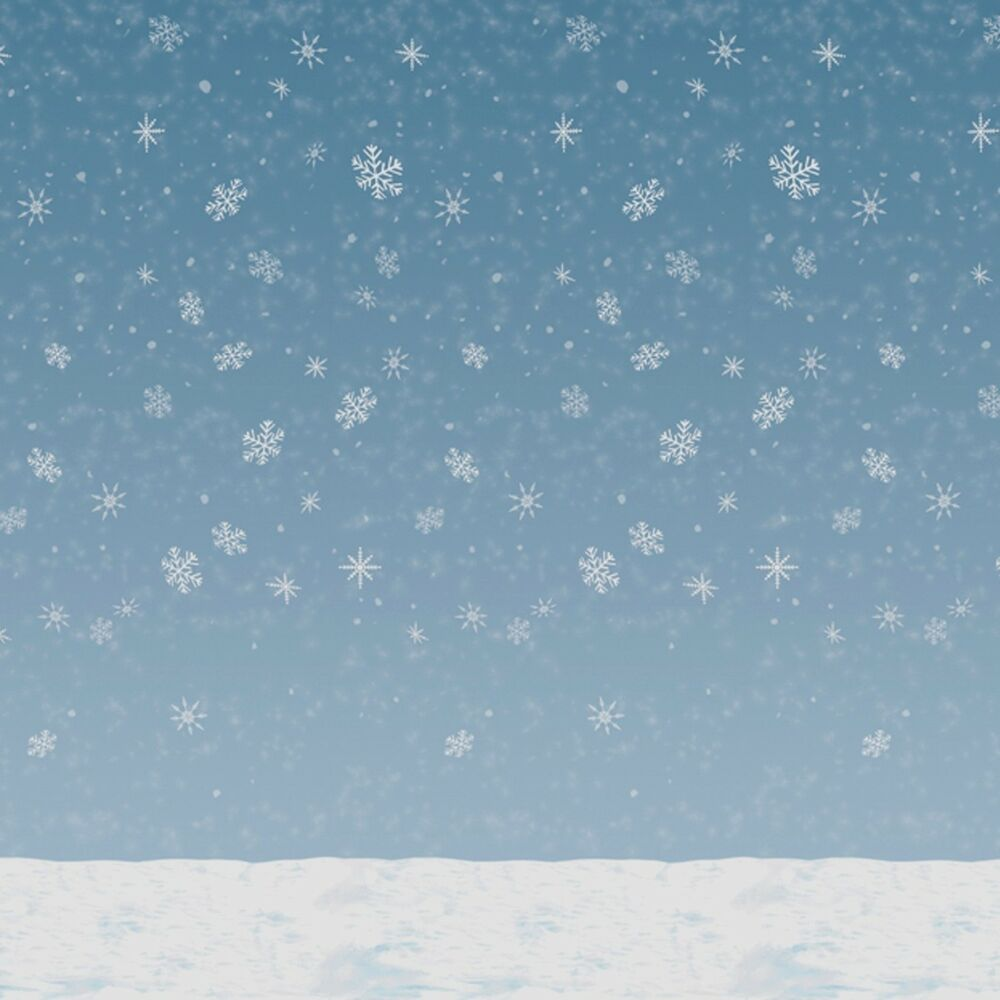 60u0027 Frozen Snowflake Winter Wall Mural Christmas Scene Setter Photo  Backdrop | EBay Part 78