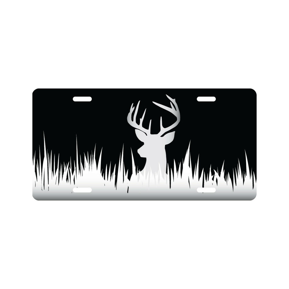 Deer Silhouette Hunting License Plate Funny Novelty Tag Ebay