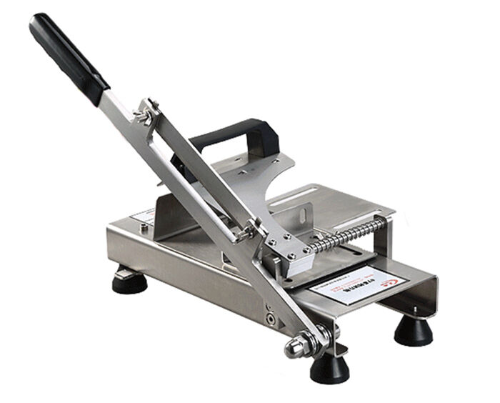 Steel Cutting Equipment : Stainless steel manual frozen meat slicer handle