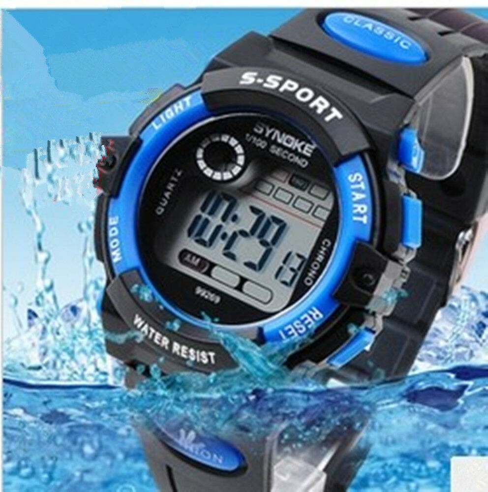Outdoor multifunction waterproof child boy 39 s girl 39 s sports electronic watches ebay for Under water watches