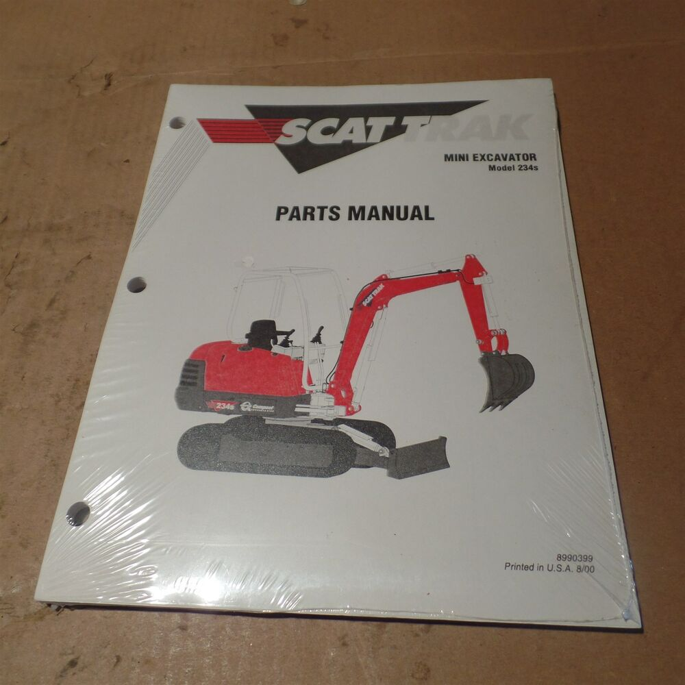 SCAT TRAK MINI EXCAVATOR MODEL 234S PARTS MANUAL, 8990399, OMNIQUIP,  MX8990399 | eBay
