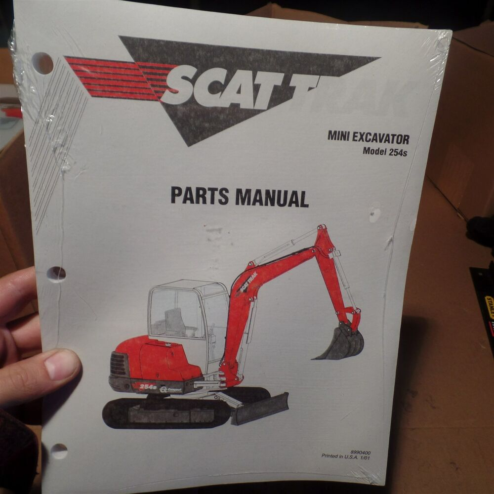 SCAT TRAK MINI EXCAVATOR MODEL 254S PARTS MANUAL, 8990400, OMNIQUIP | eBay