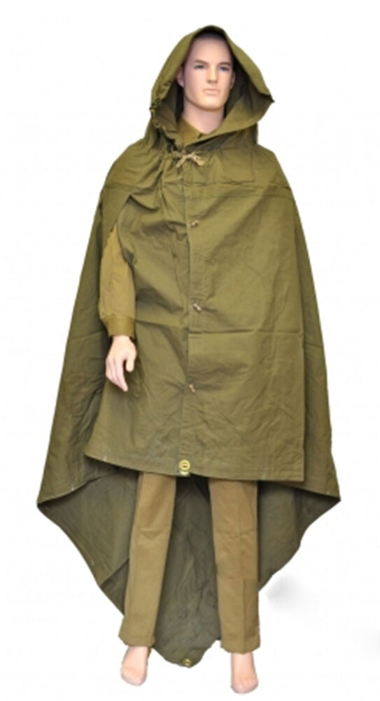 Military Russian Army Soviet soldiers Cloak tent Poncho ...