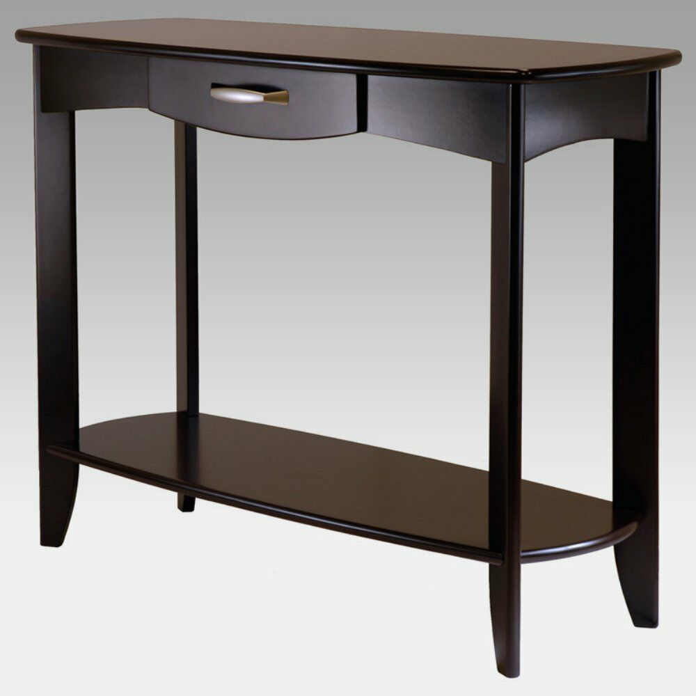 Dana console table espresso 40 inches ebay for Sofa table 50 inches