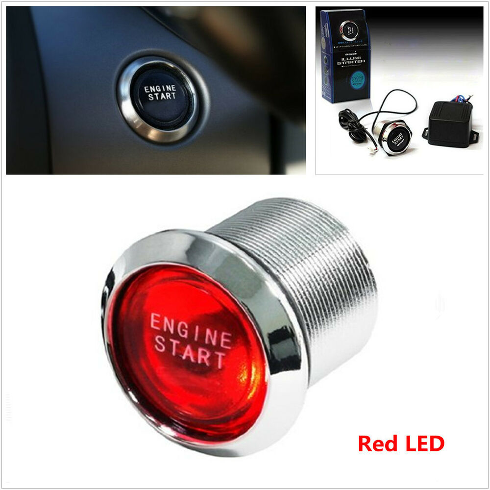 Car Suv Keyless Engine Ignition Power Switch Blue Led: Auto Car Keyless Engine Ignition Start Power Switch Red