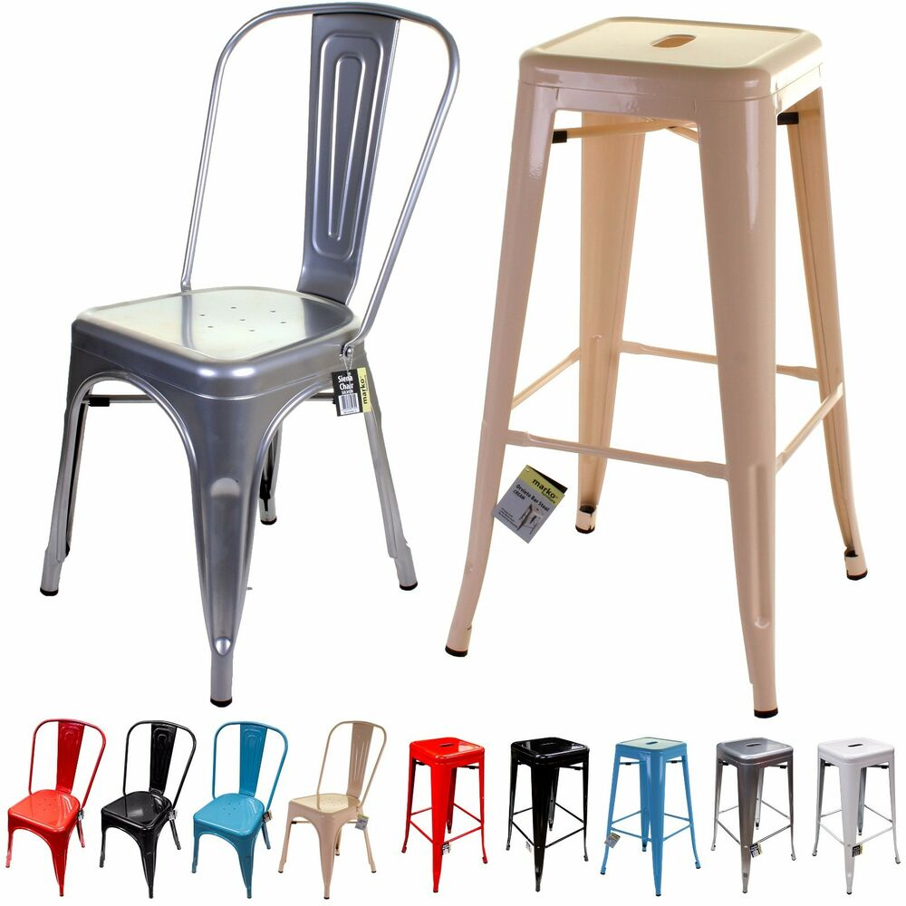 Metal Chair Amp Bar Stool Tolix Style French Inspired Design
