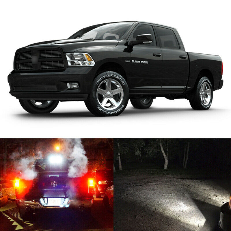 13 X White Led Interior Exterior Light Kit For 2013 2017 Ram 1500 Slt Bighorn Ebay