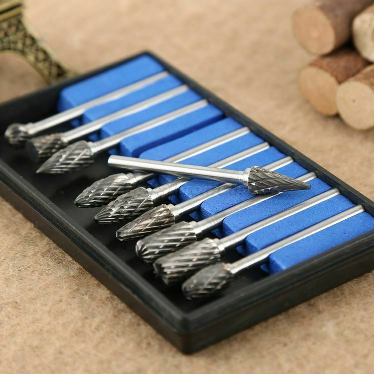 1set 10pc tungsten steel carbide burrs die grinder dremel drill bits rotary tool ebay. Black Bedroom Furniture Sets. Home Design Ideas