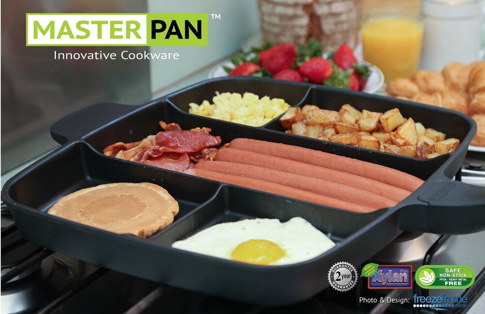 Master Pan Non Stick Multi Section 5 In 1 Frying Grill