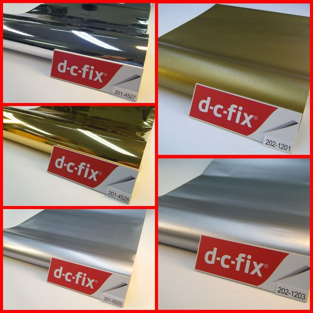 Dc fix silver gold sticky back self adhesive vinyl film - Dc fix tischdecken ...