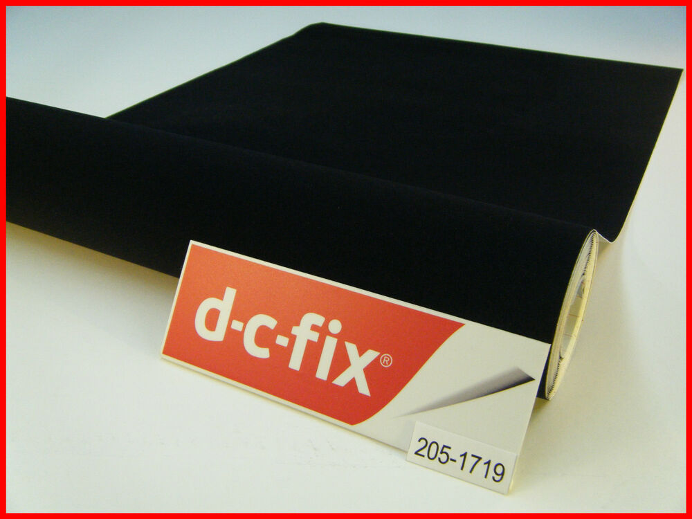 Dc fix velour black felt 1m x 45cm sticky back self - Dc fix tischdecken ...