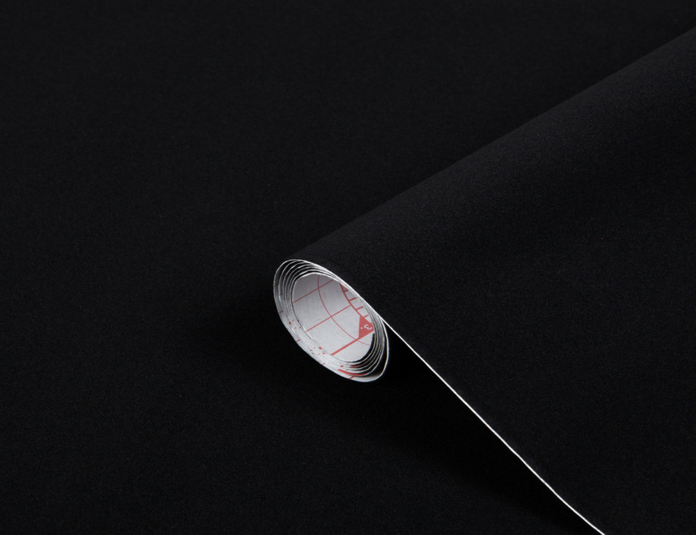DC FIX Velour Black Felt 1m x 45cm Sticky Back Self Adhesive Vinyl Contact Pa