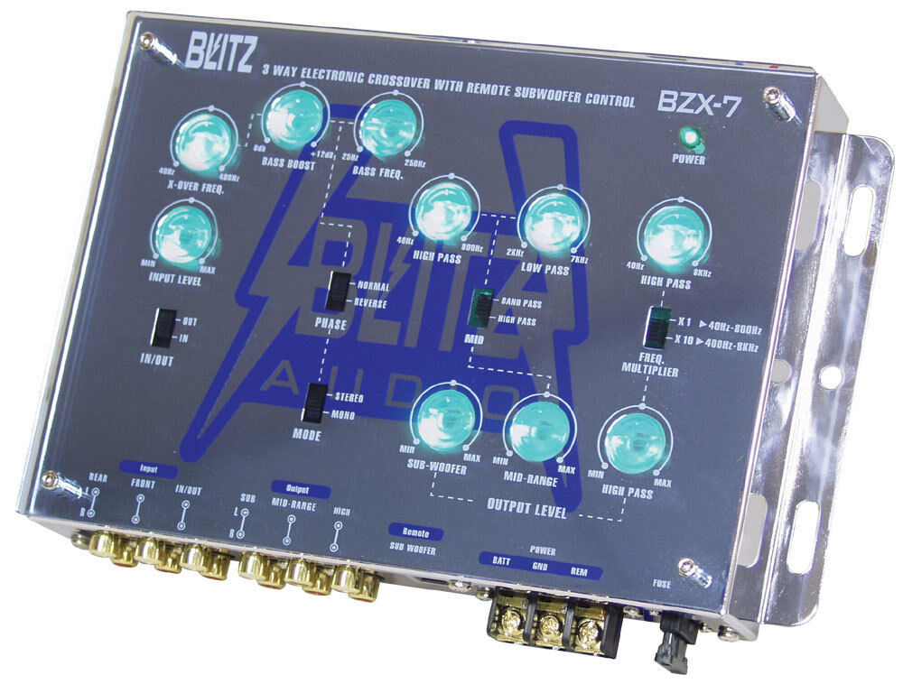 blitz bzx7 3 way electronic crossover network with. Black Bedroom Furniture Sets. Home Design Ideas
