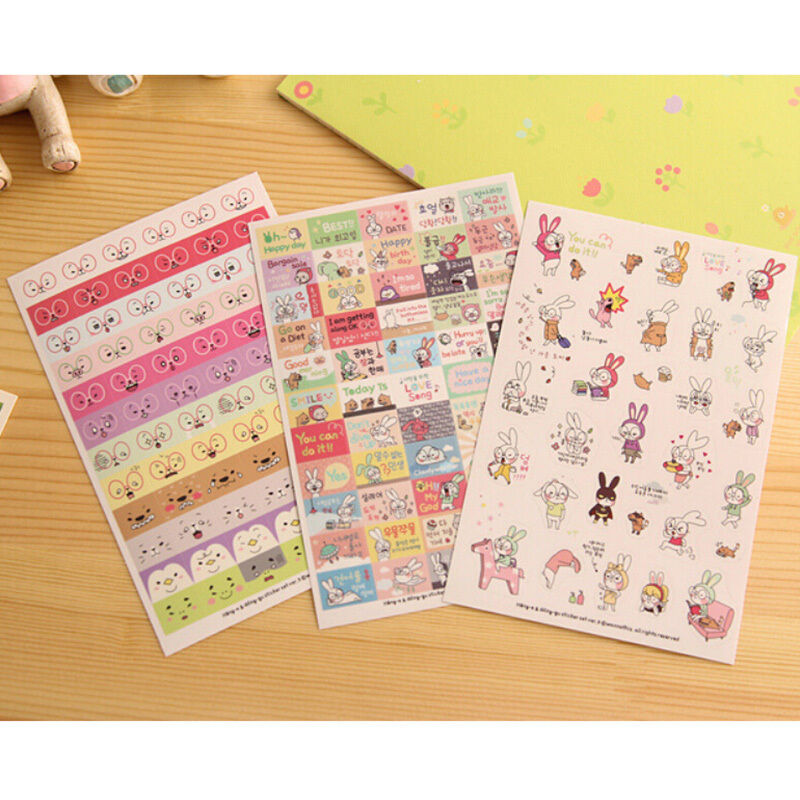 Diy Calendar Diary : Sheets cartoon diy calendar diary book sticker scrapbook