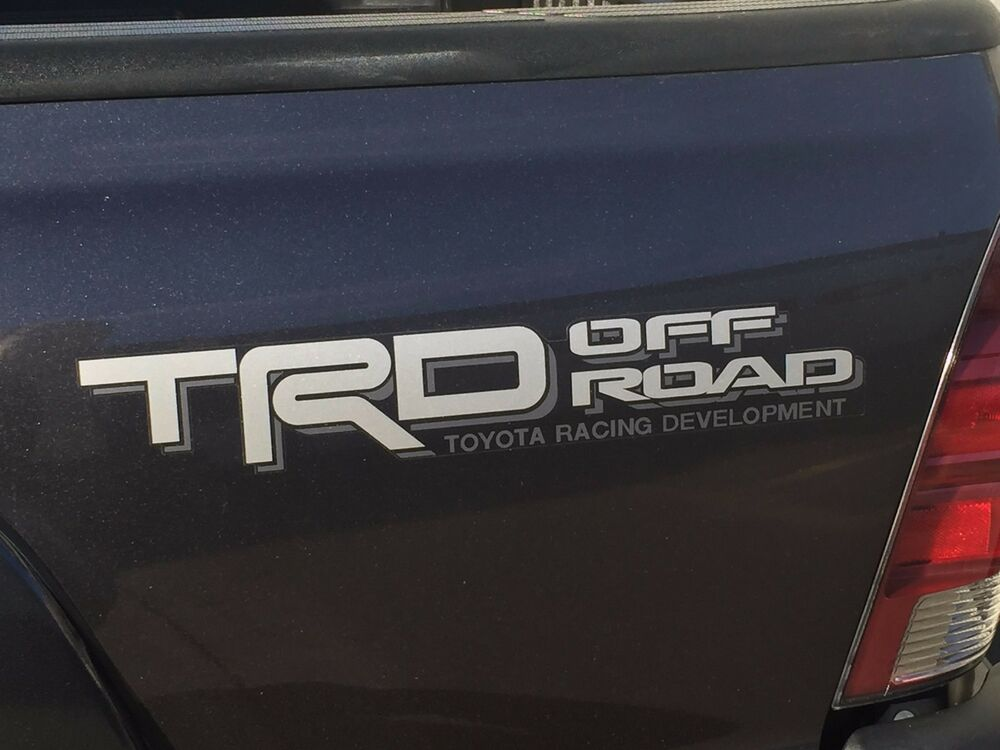 Toyota Tundra Trd Off Road Bedside Decal Silver Gray Pt211