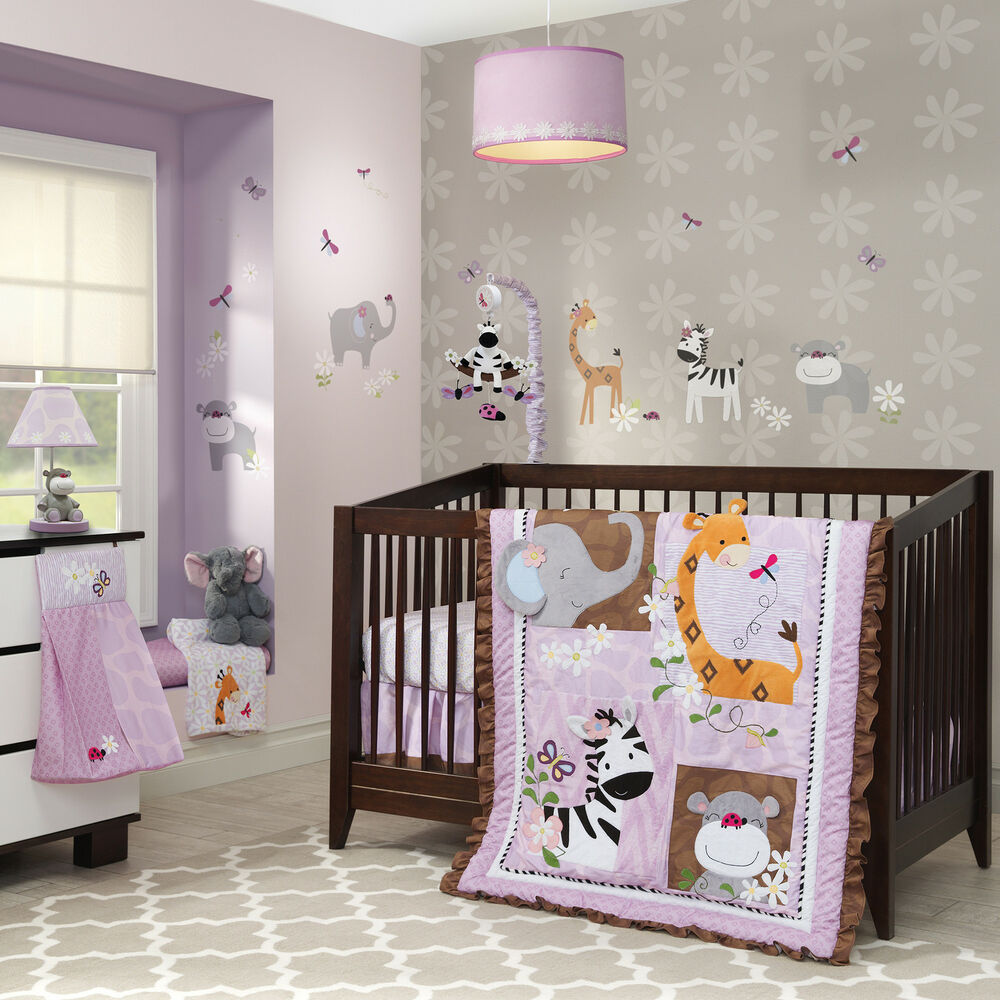 nursery bedroom sets lambs amp ladybug jungle 4 crib bedding set ebay 12721