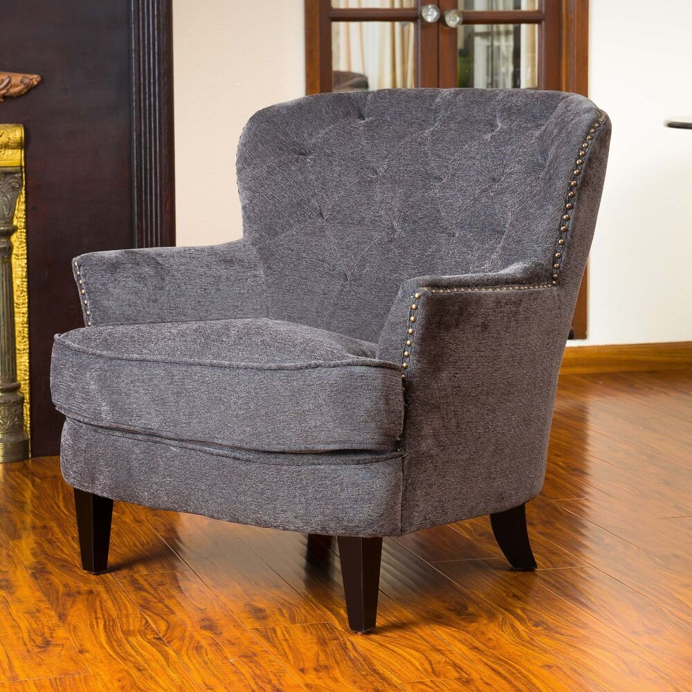 Gorgeous Vintage Design Grey Upholstered Arm Chair EBay