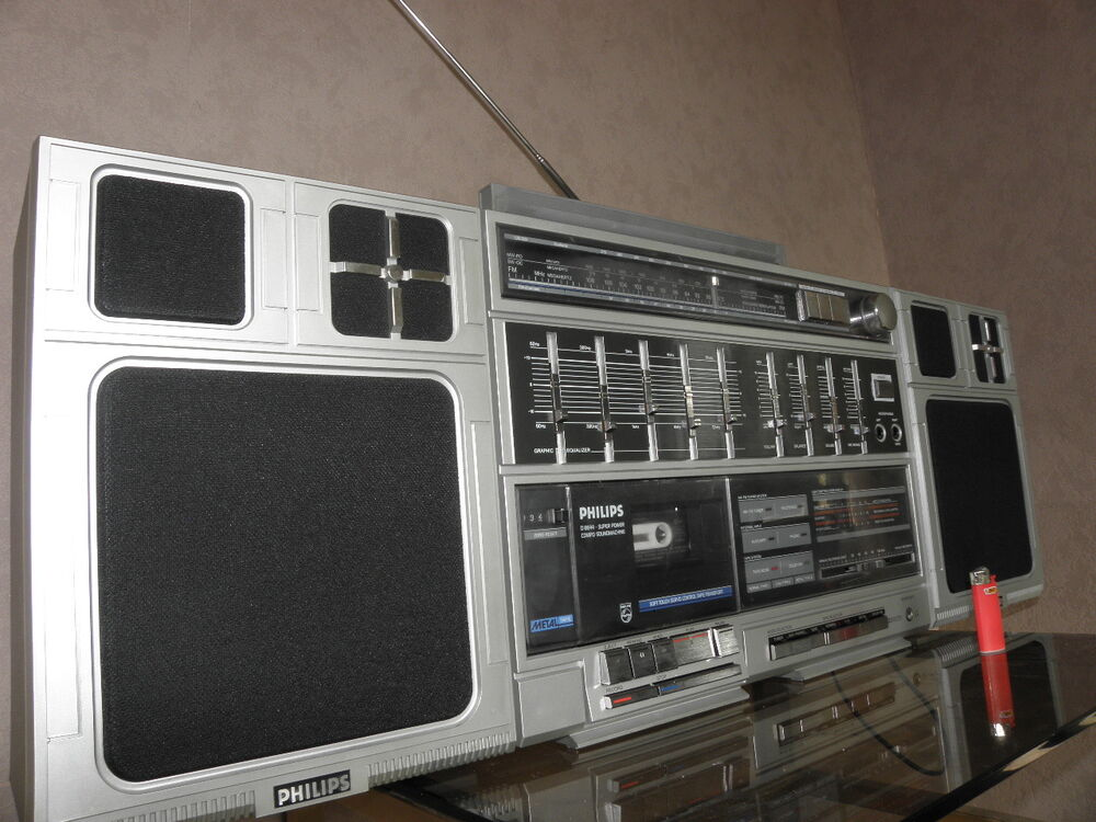 1970 39 s boombox philips d8644 big portable radio cassette ghetto blaster v - Phillips ghetto blaster ...