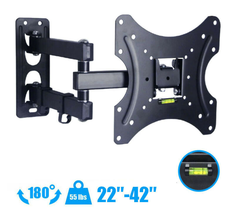Full Motion Tv Wall Mount Bracket Swivel For 23 Quot 26 Quot 27 Quot 32