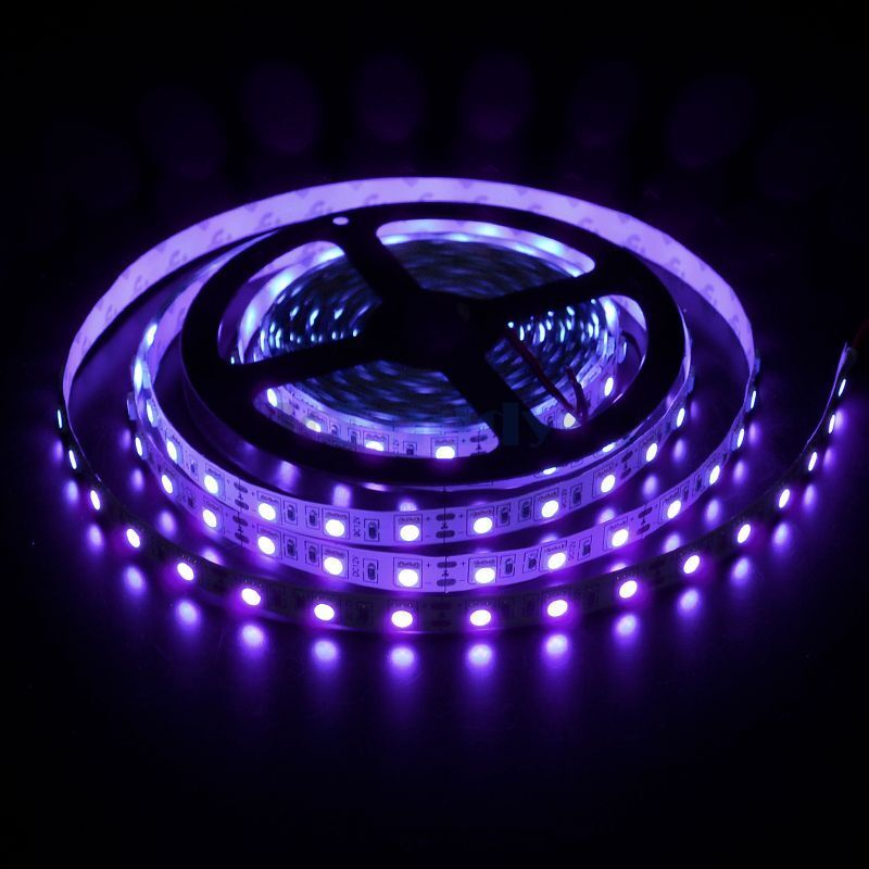 Half String Led Lights Out : 5M Non-waterproof SMD 5050 UV Purple Black Light LED Rope Lights 300 LED Tapes eBay