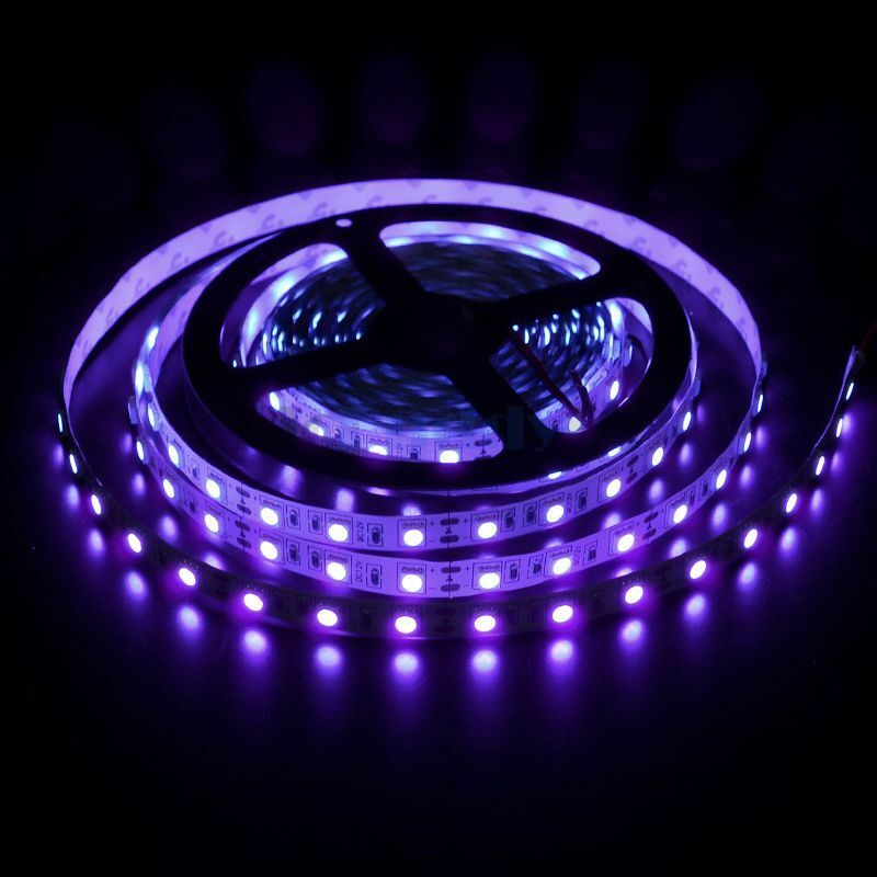 Purple String Lights Black Cord : 5M Non-waterproof SMD 5050 UV Purple Black Light LED Rope Lights 300 LED Tapes eBay