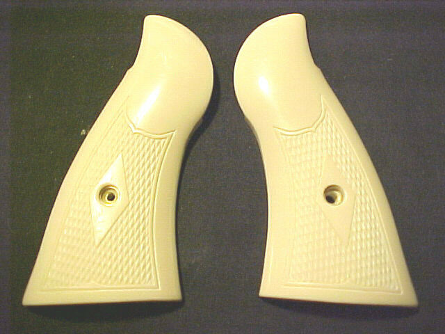 Smith Wesson N Frame Checkered Bonded Ivory Grips Square