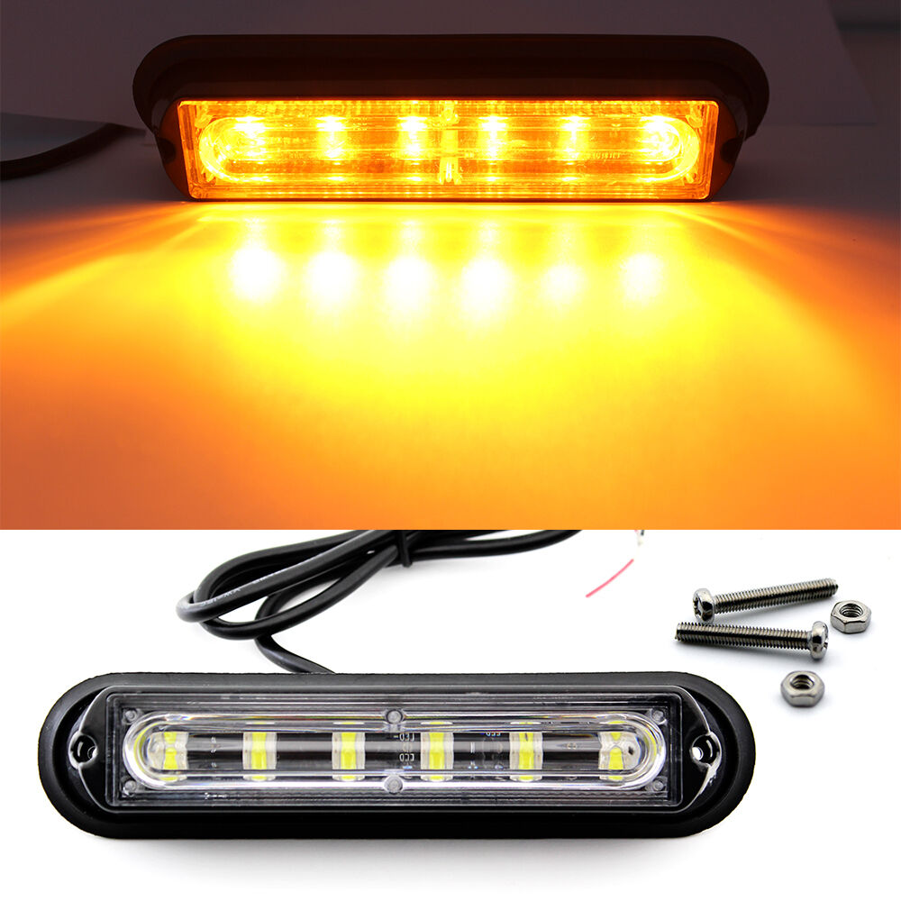 6 LED Car Truck Trailer RV Boat Emergency Light Bar Hazard ...