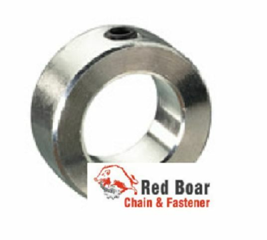 Quot bore solid shaft set screw collar zinc plated axle stop
