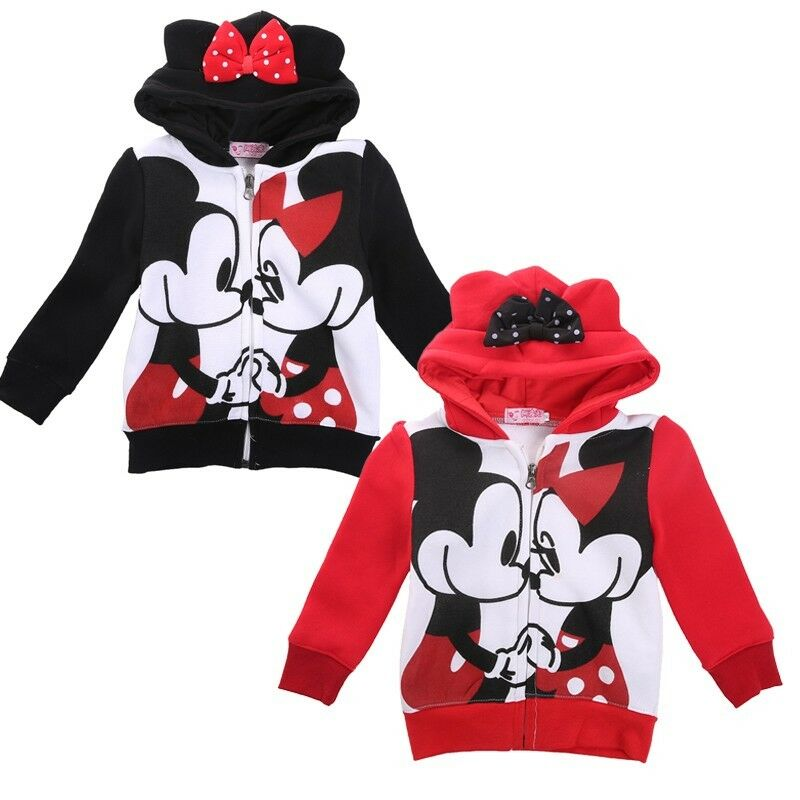 mickey minnie mouse boys girls hoodies cotton clothes sweatshirt kids gift 2 7y ebay. Black Bedroom Furniture Sets. Home Design Ideas